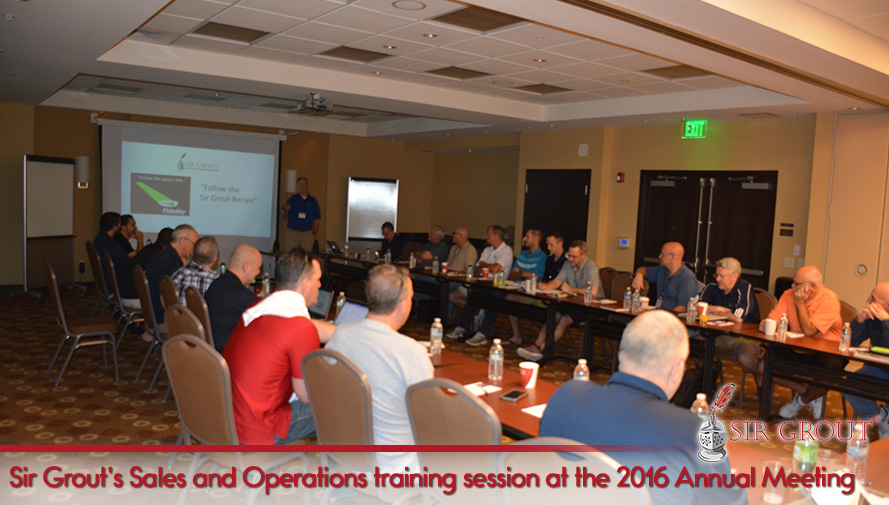 Sir Grout's Sales and Operations Training Session at the 2016 Annual Meeting