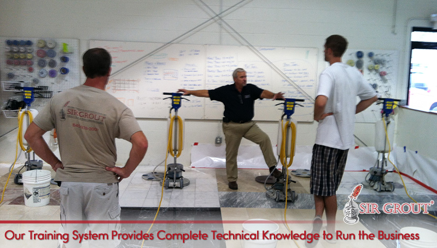 Our Training System Provides Complete Technical Knowledge to Run the Grout Cleaning Franchise