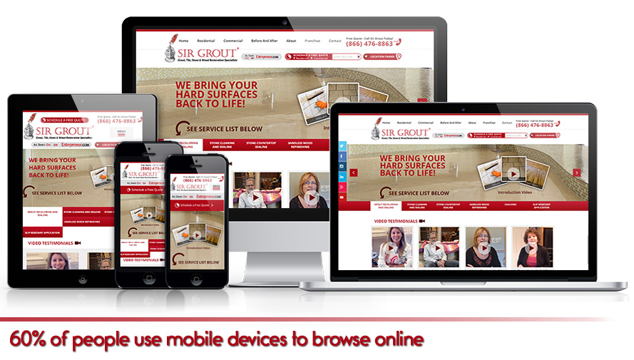 60% of people use mobile devices to browse online