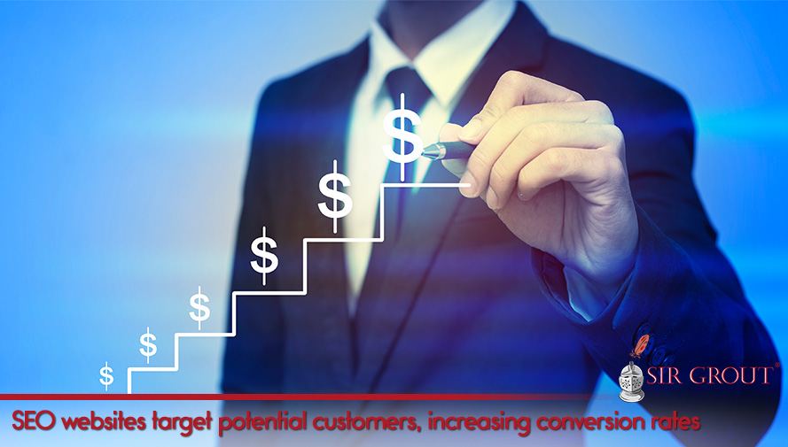 SEO websites target potential customers, increasing conversion rates