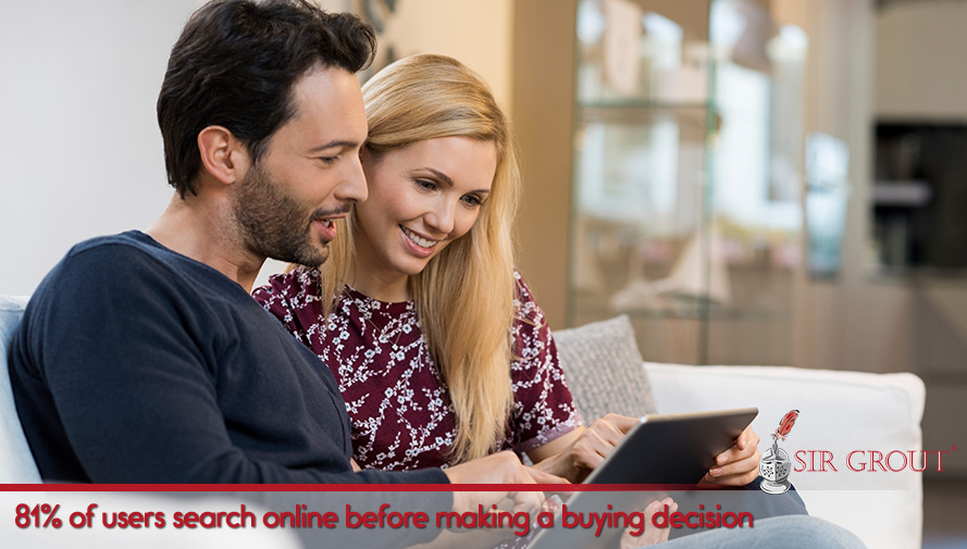 81% of users search online before making a buying decision
